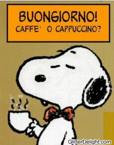 snoopy gif best of ac29dc2a4 buongiorno amore mio want some cappuccino ac298c295 yum of snoopy gif